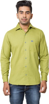 Nauhwar Men's Solid Formal Light Green Shirt