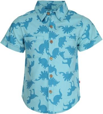 Nino Bambino Boy's Printed Casual Blue Shirt