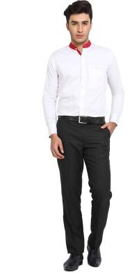 Shaftesbury London Men's Solid Formal White Shirt