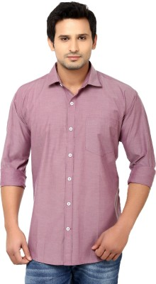Golf Club Men's Solid Casual Maroon Shirt
