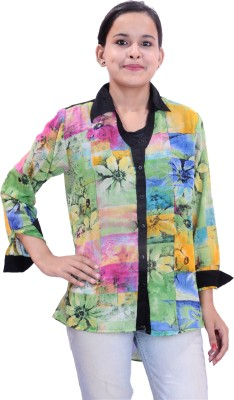 Krazzy Collection Women,s Printed Casual Multicolor Shirt