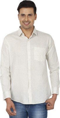Edinwolf Men's Printed Casual Black, White Shirt