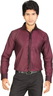 Red Country Men's Solid Casual Maroon Shirt