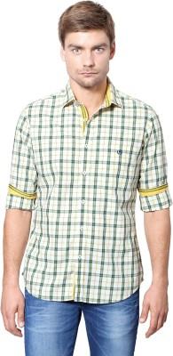 Van Heusen Men's Checkered Casual Green Shirt