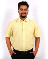 Sonute Berry Formal Shirts (Men's) - Sonute Berry Men's Solid Formal Yellow Shirt