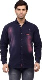 Ranger Men's Solid Casual Blue Shirt