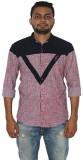 Fisheye Men's Printed Casual Pink Shirt
