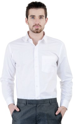 SEMTEX Men's Solid Formal White Shirt