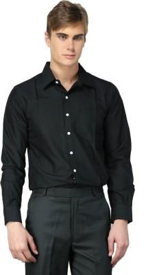 MNW Men's Solid Formal Black Shirt