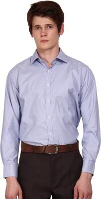 I-Voc Men's Self Design Formal Blue, White Shirt
