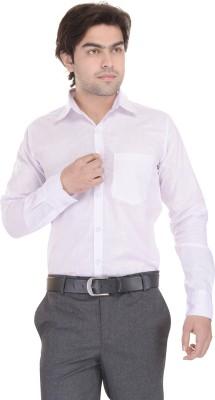 Lee Mark Men's Solid Formal White Shirt