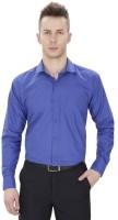 Shine Basics Formal Shirts (Men's) - Shine Basics Men's Solid Formal Blue Shirt