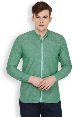 Cotton County Premium Men's Solid Casual Green Shirt