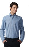 Spaky Men's Checkered Casual Blue, White...