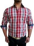 Solen Men's Checkered Casual Red Shirt