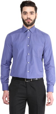 Urban Culture Men's Solid Formal Dark Blue Shirt