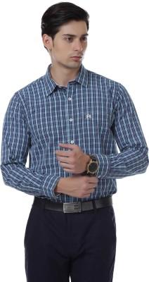 Cotton County Men's Checkered Casual Green Shirt
