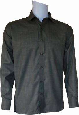 Ardeur Men's Solid Formal Green Shirt