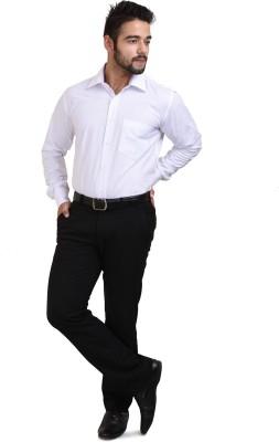Coffee Bean Men's Solid Formal White Shirt