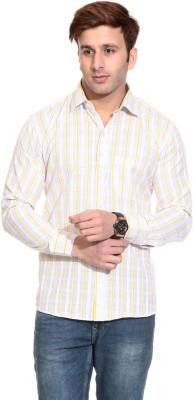 Pede Milan Men's Checkered Casual Yellow Shirt