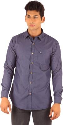 FA French America Men's Solid Casual Purple Shirt