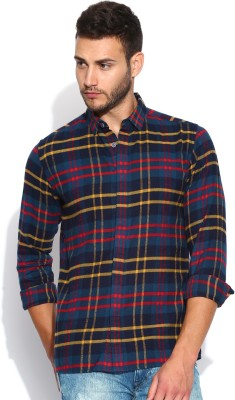 883 Police Men's Checkered Casual Multicolor Shirt