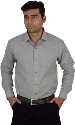 Studio Nexx Men's Solid Formal Grey Shirt