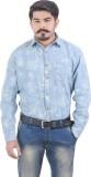 Lujo Diseno Men's Solid Casual Denim Blu...
