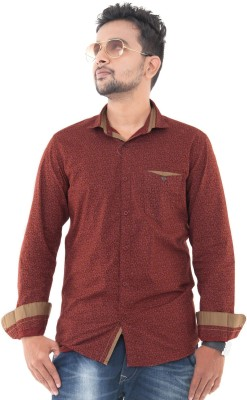 Passion Men's Printed Casual Red Shirt