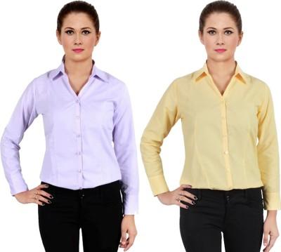 NGT Women's Solid Formal Beige Shirt
