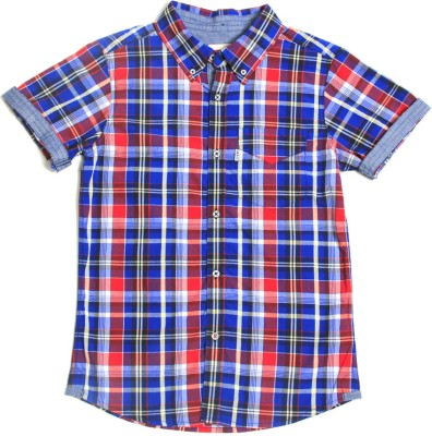 Levis Kids Boy's Checkered Casual Blue, Red Shirt