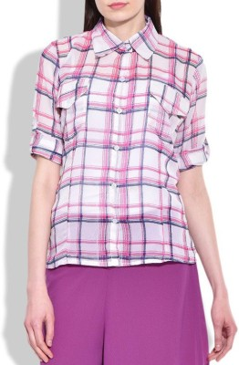 London Off Women's Checkered Casual Pink Shirt