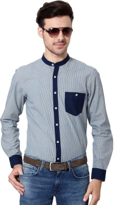 Allen Solly Men's Striped Casual Blue Shirt