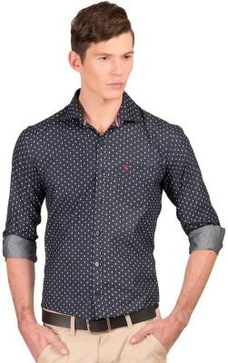 Taurus Men's Printed Casual Blue Shirt