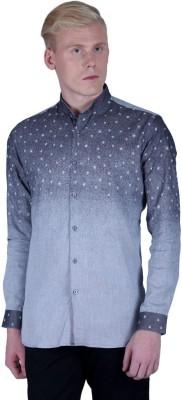 Lawman Pg3 Men,s Printed Casual Grey Shirt