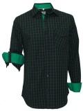 Darium Men's Checkered Casual Black, Gre...