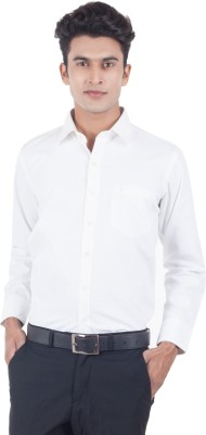 Eden Elliot Men's Solid Formal White Shirt