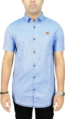 Kuons Avenue Men's Solid Casual Linen Blue, Light Blue Shirt