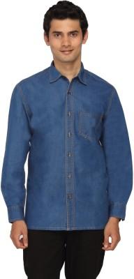 Scottish Men's Solid Casual Blue Shirt