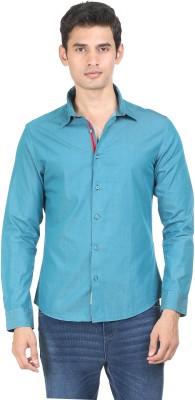 Flippd Men's Solid Casual Green Shirt