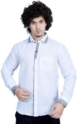 Bucci Men's Solid Casual White Shirt