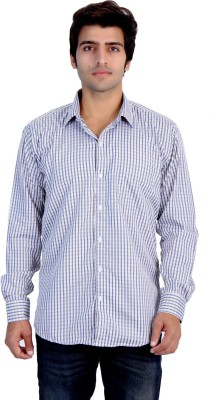 25th R Men,s Striped Casual Yellow, Blue Shirt