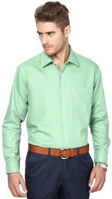 Shaftesbury London Men's Solid Casual Green Shirt