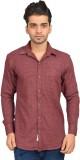 Libisto Men's Solid Casual Brown Shirt