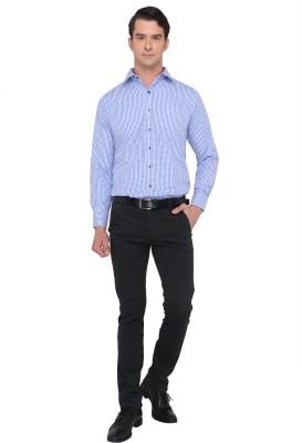 Donear NXG Men's Printed Formal Light Blue Shirt