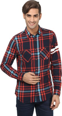 United Colors of Benetton Men's Checkered Casual Blue, Red Shirt