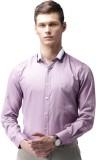 Invictus Men's Self Design Casual Purple...