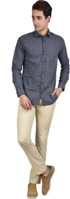 Zid Clothing Men's Checkered Casual Green Shirt