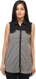 Entease Women's Printed Casual Black, Wh...