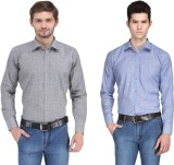 Ausy Men's Solid Casual Grey, Blue Shirt...